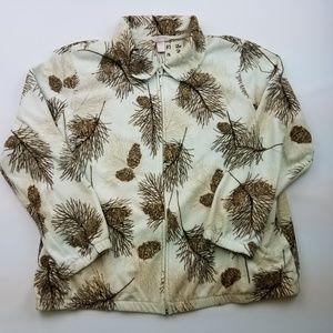 White Stag Full Zip Long Sleeve Fleece Sweater